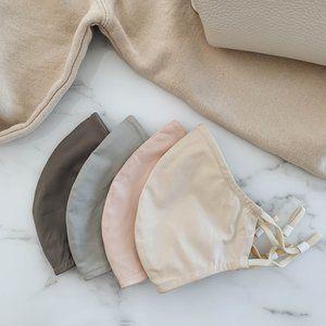 NEW Jonathan Simkhai Cotton Face Mask Set (QTY 4)